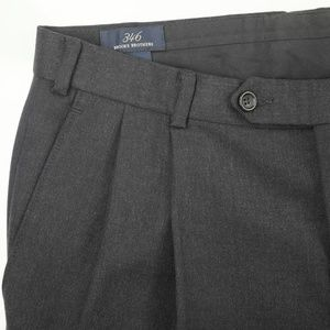 Brooks Brothers Pleat Front Gray Wool Dress Pants